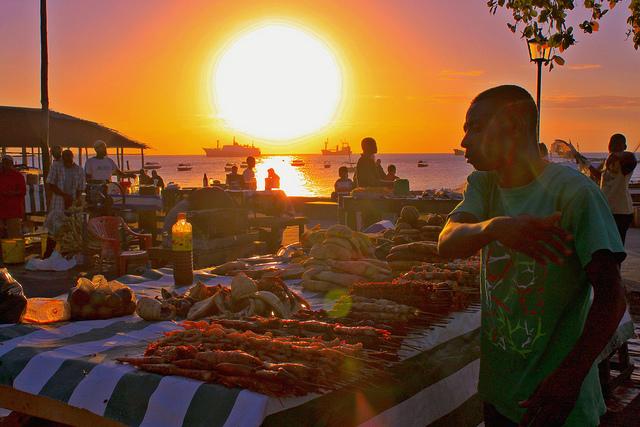 Sunset over Stone Town in Zanzibar. Flickr/G.S. Matthews