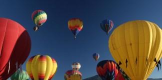 Hot air balloon festival in Taos, New Mexico