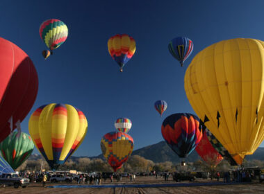 Hot air balloon festival in Taos, New Mexico