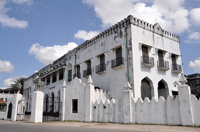 The Sultan of Zanzibar's Palace in the Stone Town section of the island of Zanzibar in Tanzania. Flickr/ Kevin Harber
