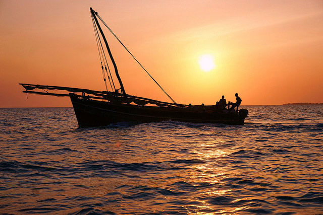 Sunset in Zanzibar. Flickr/mitchpa1984