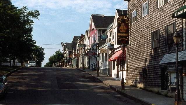 A quiet street in Bar Harbor, Maine. Flickr/ David Wilson