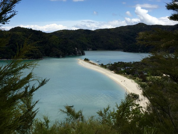 Abel Tasman National Park, Anchorage Bay, as viewed from the trail. Photo by Ali Van Houten