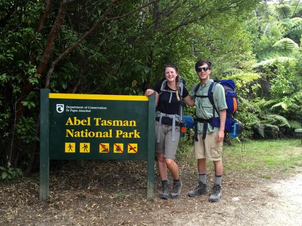 "Say ""kiwi!"" The author in Abel Tasman National Park. Photo by Ali Van Houten"