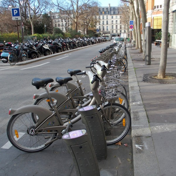 Paris has an efficient bike rental system. Photo by Kevin McGoff