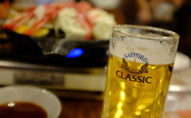 Sapporo Classic Beer. Photo by Andrew Day
