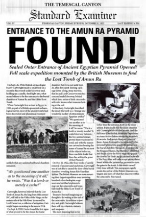 The discovery of King Tut's tomb in Egypt