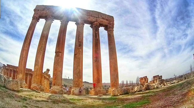 The temple of Jupiter in Baalback in Lebanon. Photo by Louay Kabalan