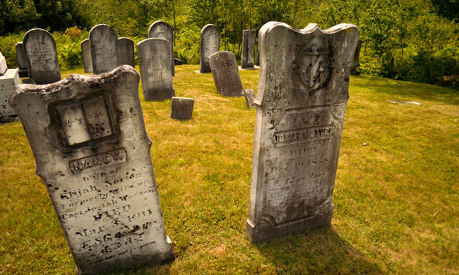 Maine is dotted with many old, historic cemeteries.