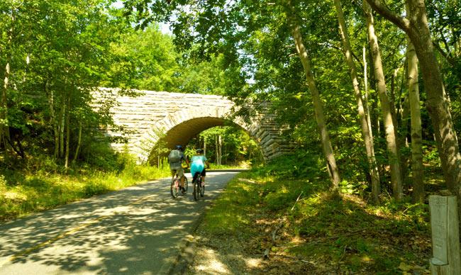Bike touring in Maine