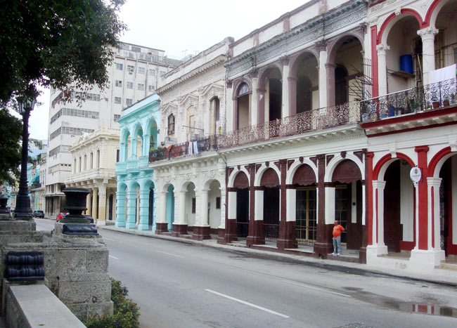 Colorful historic buildings in Cuba. Photo by Ernie Stefley