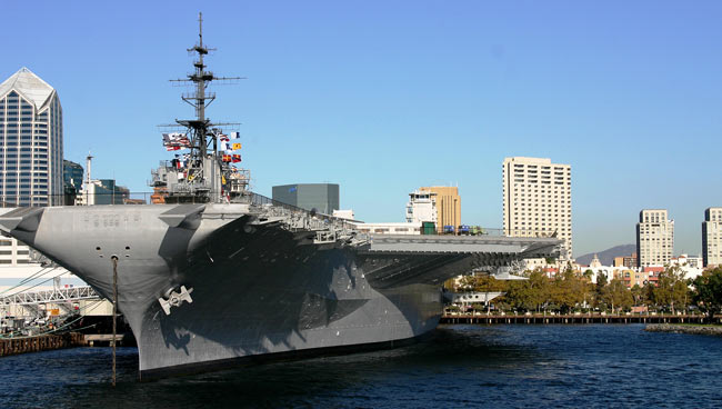 The USS Midway. Photo by SanDiego.org