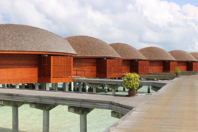 Anantara Dhigu in the Maldives has 110 villas and suites. Photo by Janna Graber