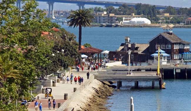 Seaport Village has many excellent shops and restaurants. Photo by SanDiego.org