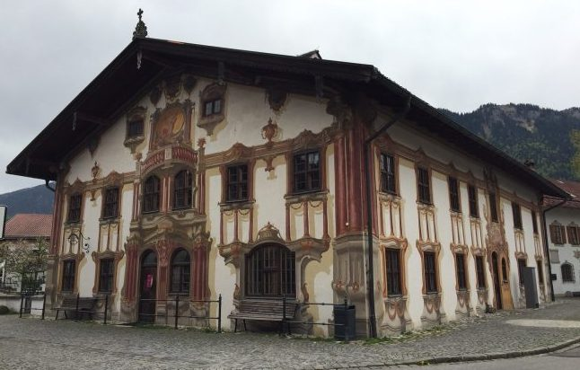 Oberammergau is known for the Lüftlmalerei (wall frescoes that tell a story) on many of its homes. Photo by Janna Graber