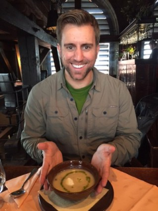 The sauerkraut soup is a big hit with our group. Photo by Janna Graber