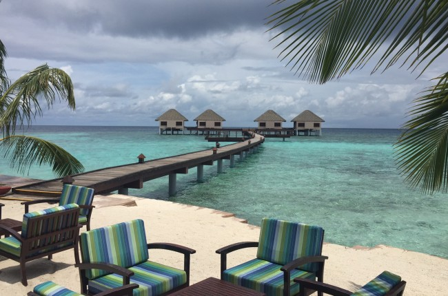 Over-water villas at Adaaran Prestige Vadoo. Photo by Janna Graber