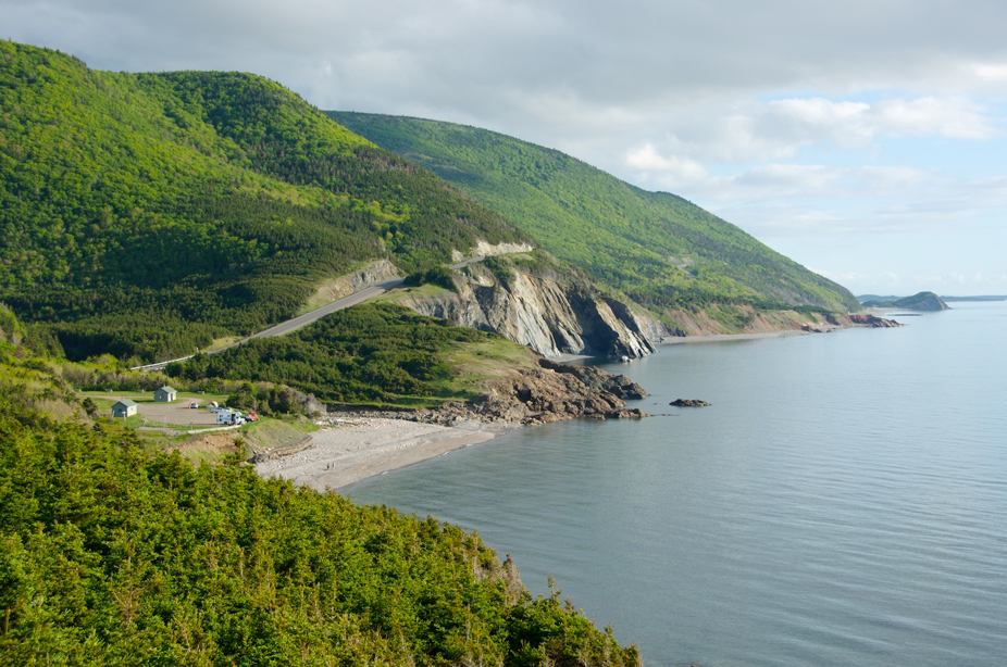 Panaormic views of the Cabot Trail in Cape Breton Highlands National Park. Photo by Wally Hayes