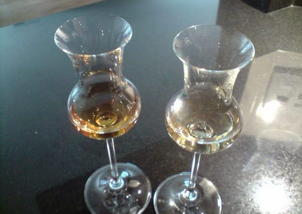 Two different shades of grappa. Photo by Flickr/Italy in SF