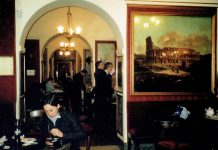Italy Inside the Caffe Greco by Dan Morey