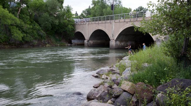 The Animas River flows under Main Avenue, Durango, CO. Photo by Jack Bohannan