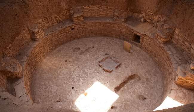 An underground kiva at Mesa Verde National Park. Photo by Jack Bohannan.
