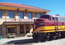 The train station in Alamosa, Colorado. Photo by Rio Grande Scenic Railroad