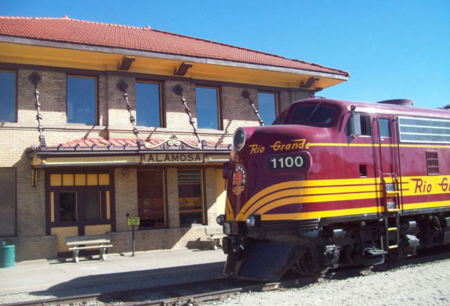 The train station in Alamosa, Colorado. Photo by Rio Grande Scenic Railroad