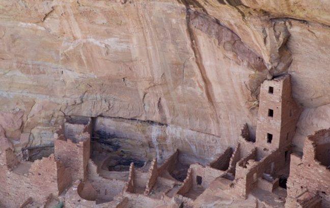 Square Tower House ruins in Navajo Canyon, Mesa Verde, Colorado. Photo by Jack Bohannan.
