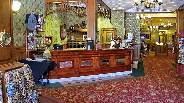Lobby of the Strater Hotel, Durango, CO. Flickr/Alan English