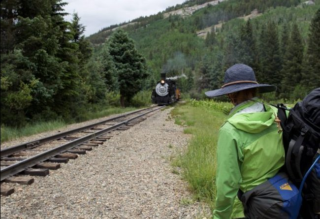 Riding the train out of the backcountry and back into Durango. Photo by Jack Bohannan