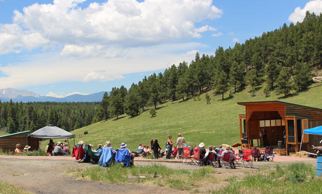 Concerts are performed at the Fur Summit Amphitheater. Photo by Janna Graber