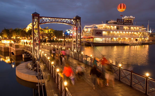 What's New at Walt Disney World -- The new Village Causeway at Disney Springs provides guests with another path of travel through the Marketplace. Photo by David Roark