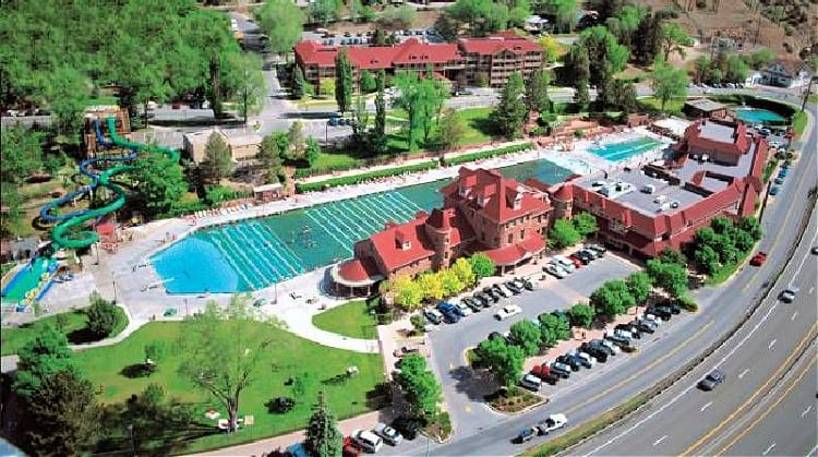 The Glenwood Hot Springs Pool is the length of a football field. Photo by Glenwood Hot Springs