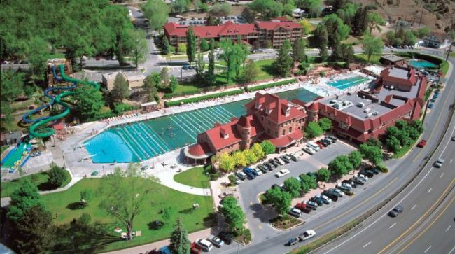 Glenwood Hot Springs are the length of a football field. Photo by Glenwood Hot Springs