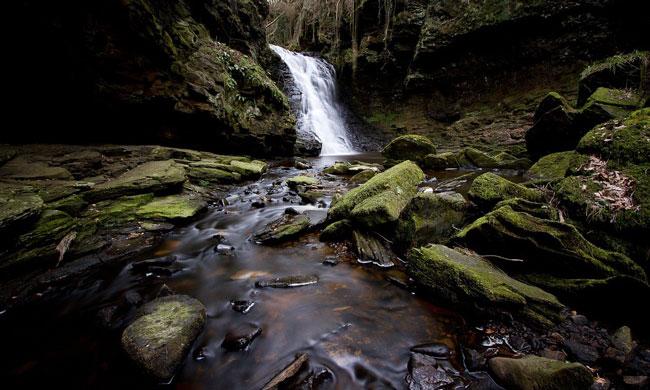 Three-mile hike from Bellingham to the waterfall through the serene Hareshaw Dene