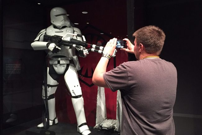 The authors son checks out the Star Wars Launch Bay. Photo by Janna Graber