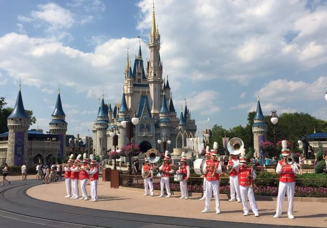 Getting ready for a parade at the Magic Kingdom. Photo by Janna Graber