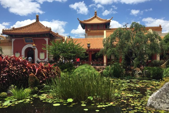 Part of the China Pavilion at Epcot. Photo by Janna Gaber
