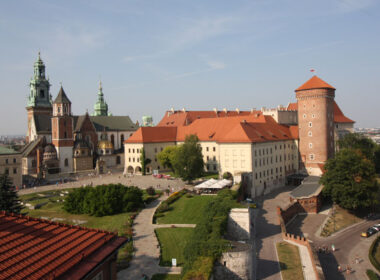 View of Krakow Cathedral and Royal Palace from the Sandomierz Watch Tower
