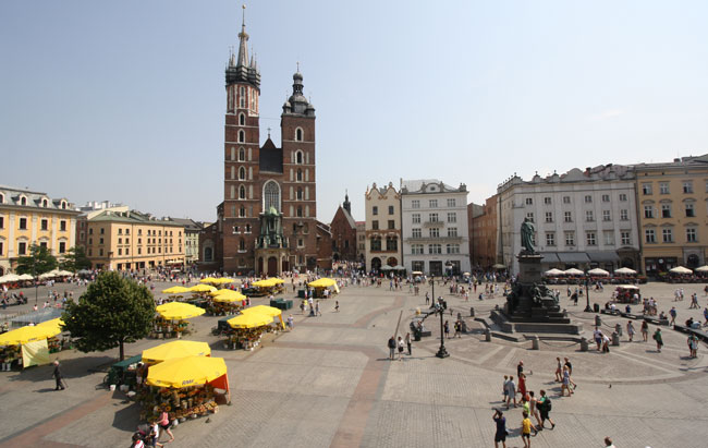 View of Market Square from Café Szal. Photo by Richard Varr