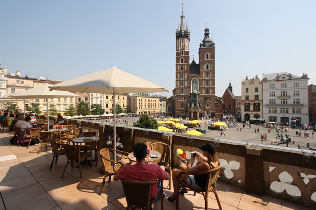 View of Market Square from Café Szal