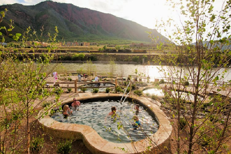 One of the 16 hot springs pools at Iron Mountain Hot Springs. Photo by Jack Affleck