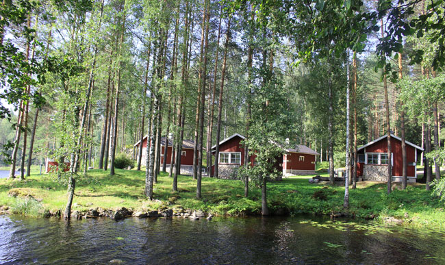 The ability to relax and enjoy nature is an important part of Finnish culture. Pictured here are lakeside cottages at Sahanlahti. Photo by Janna Graber