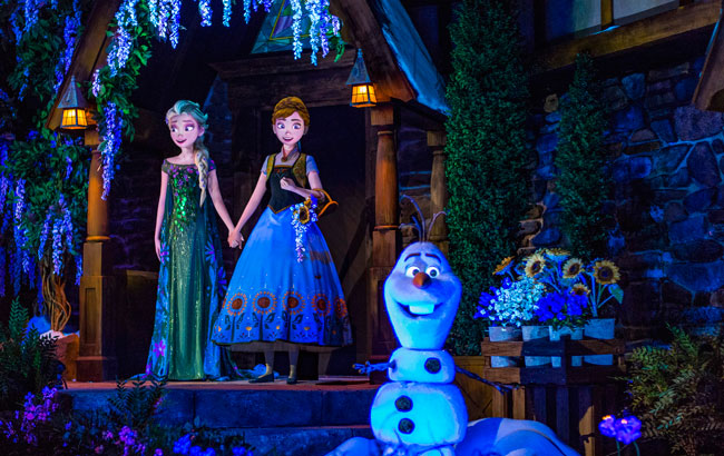 "New attractions at Walt Disney World - Frozen Ever After in the Norway Pavilion takes guests through the kingdom of Arendelle from the Disney animated hit, ""Frozen."" Photo by Matt Stroshane"