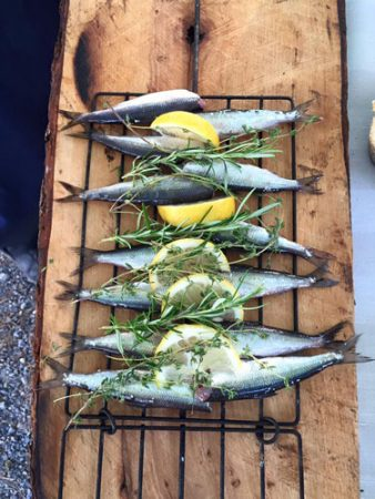 Grilling Moikku at our lakeside BBQ. Photo by Janna Graber