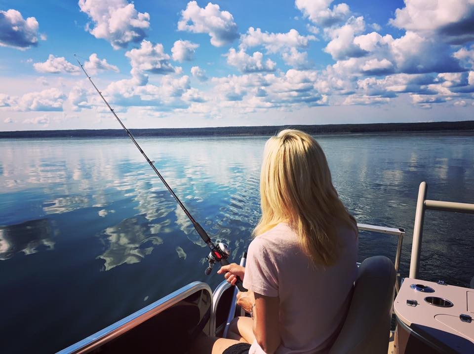 Fishing at Prince Albert National Park. Photo courtesy Janna Graber