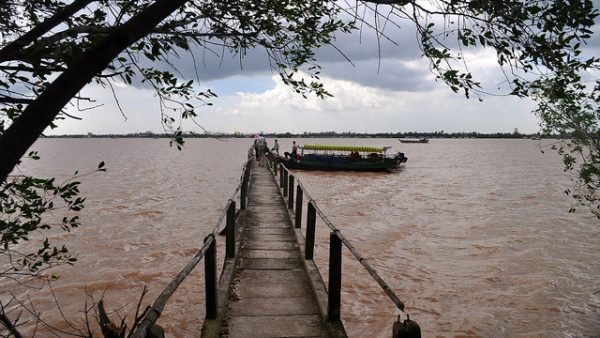 The Mekong seen from Vietnam. Photo by Flickr/David McKelvey