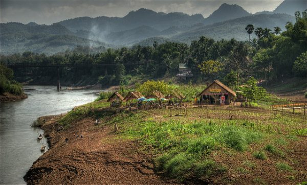 On the riverbank of the Nam Khan river in Luang Prabang, Laos. Photo by Flickr/Ville Miettinen