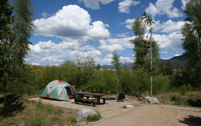 Camping at Green Ridge Campgrounds at Shadow Mountain Lake. Photo by Carrie Dow